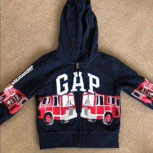 Baby Gap Fire Truck zip up